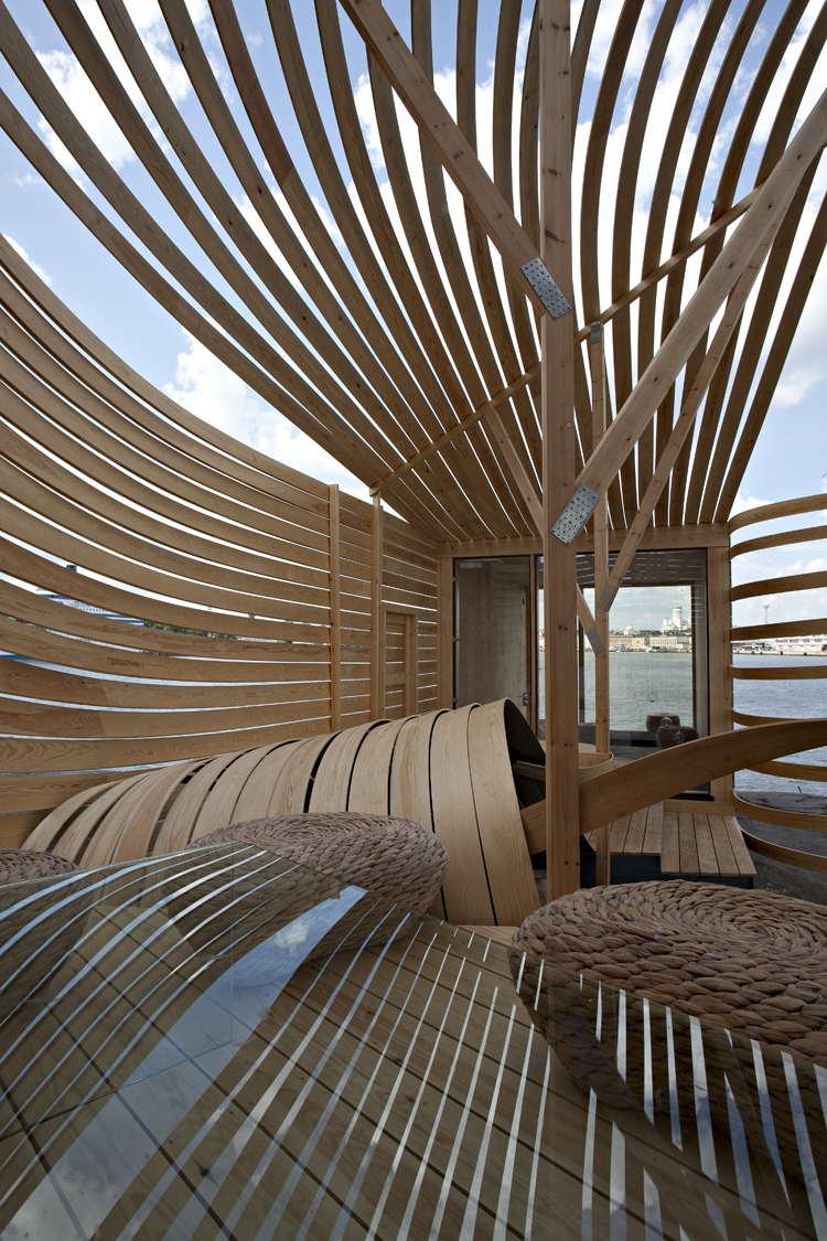 Material focus wisa wooden design hotel material strategies for Wooden hotel design